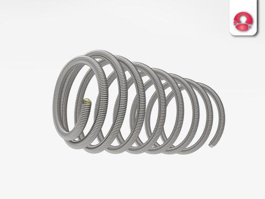 2D弹簧圈